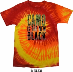 Mens Funny Shirt Camo is the New Black Tie Dye Tee T-shirt