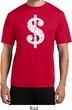 Mens Funny Shirt Distressed Dollar Sign Moisture Wicking Tee T-Shirt