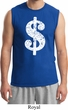 Mens Funny Shirt Distressed Dollar Sign Muscle Tee T-Shirt