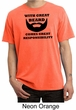 Mens Funny Shirt Great Beard Great Responsibility Pigment Dyed Tee