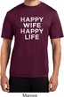 Mens Funny Shirt Happy Wife Happy Life Moisture Wicking Tee