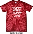 Mens Funny Shirt Happy Wife Happy Life Spider Tie Dye Tee T-shirt