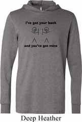 Mens Funny Shirt I've Got Your Back Lightweight Hoodie Tee