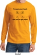 Mens Funny Shirt I've Got Your Back Long Sleeve Tee T-Shirt
