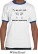 Mens Funny Shirt I've Got Your Back Ringer Tee T-Shirt