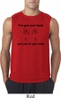 Mens Funny Shirt I've Got Your Back Sleeveless Tee T-Shirt