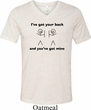 Mens Funny Shirt I've Got Your Back Tri Blend V-neck Tee T-Shirt