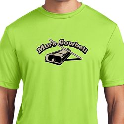 Mens Funny Shirt More Cowbell Moisture Wicking Tee T-Shirt