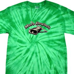 Mens Funny Shirt More Cowbell Spider Tie Dye Tee T-shirt