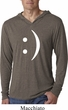 Mens Funny Shirt Smiley Chat Face Lightweight Hoodie Tee T-Shirt