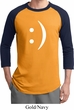Mens Funny Shirt Smiley Chat Face Raglan Tee T-Shirt