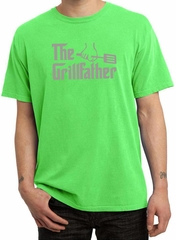 Mens Funny Shirt The Grill Father Pigment Dyed Tee T-Shirt