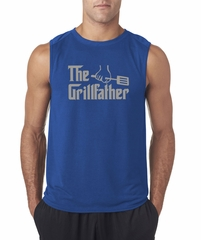 Mens Funny Shirt The Grill Father Sleeveless Tee T-Shirt