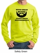 Mens Funny Sweatshirt Great Beard Great Responsibility Sweat Shirt