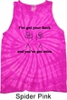 Mens Funny Tanktop I've Got Your Back Tie Dye Tank Top