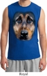 Mens German Shepherd Shirt Big German Shepherd Face Muscle Tee T-Shirt