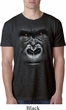 Mens Gorilla Shirt Big Gorilla Face Burnout T-Shirt