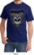 Mens Gorilla Shirt Big Gorilla Face Tee T-Shirt