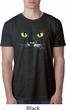 Mens Halloween Shirt Black Cat Burnout Tee T-Shirt
