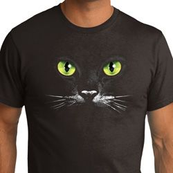 Mens Halloween Shirt Black Cat Organic Tee T-Shirt