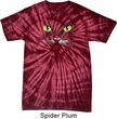 Mens Halloween Shirt Black Cat Spider Tie Dye Tee T-shirt