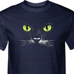 Mens Halloween Shirt Black Cat Tall Tee T-Shirt