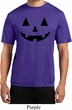 Mens Halloween Shirt Black Jack O Lantern Moisture Wicking Tee T-Shirt