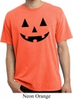 Mens Halloween Shirt Black Jack O Lantern Pigment Dyed Tee T-Shirt