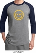 Mens Halloween Shirt Evil Smiley Face Raglan Tee T-Shirt