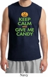 Mens Halloween Shirt Keep Calm and Give Me Candy Muscle Tee T-Shirt