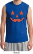 Mens Halloween Shirt Orange Jack O Lantern Muscle Tee T-Shirt