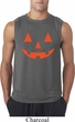 Mens Halloween Shirt Orange Jack O Lantern Sleeveless Tee T-Shirt