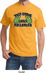 Mens Halloween Shirt This Ghoul Loves Halloween Tee T-Shirt