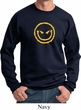 Mens Halloween Sweatshirt Evil Smiley Face Sweat Shirt