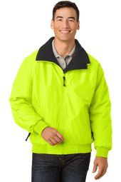 Mens High Visibility Cold Weather Jacket with Zipper