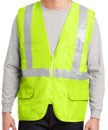 Mens High Visibility Cycle Safety Vest with Mesh Back