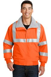 Mens High Visibility Jacket with Reflective Tape