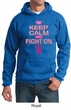 Mens Hoodie Breast Cancer Awareness Keep Calm Hoody