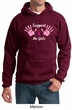 Mens Hoodie Breast Cancer Awareness Support the Girls Hoody