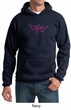 Mens Hoodie Breast Cancer Awareness Wings Ribbon Hoody