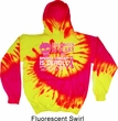 Mens Hoodie Halloween Scary Breast Cancer Deadly Tie Dye Hoody