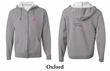 Mens Hoodie Pink Ribbon For My Grandma Front & Back Full Zip Hoody