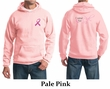 Mens Hoodie Pink Ribbon Pink For Me Front & Back Print Hoody