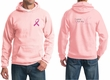 Mens Hoodie Pink Ribbon Pink For My Cousin Front & Back Print Hoody