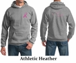 Mens Hoodie Pink Ribbon Pink For My Daughter Front & Back Print Hoody
