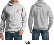 Mens Hoodie Pink Ribbon Pink For My Friend Front & Back Print Hoody