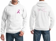 Mens Hoodie Pink Ribbon Pink For My Mom Front & Back Print Hoody
