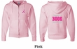 Mens Hoodie Pink Ribbon Save a Life Front & Back Print Full Zip Hoody