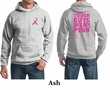 Mens Hoodie Pink Ribbon Tough Guys Wear Pink Front & Back Print Hoody