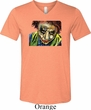 Mens Joker Face Tri Blend V-neck Shirt
